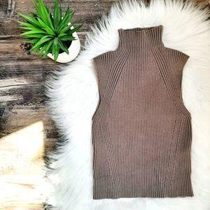 NWOT Zara high collar knit top